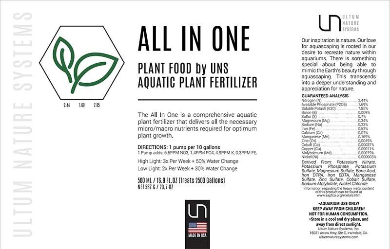 کود گیاهان آبزی UNS